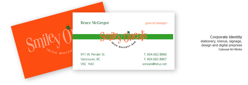 smiley business cards