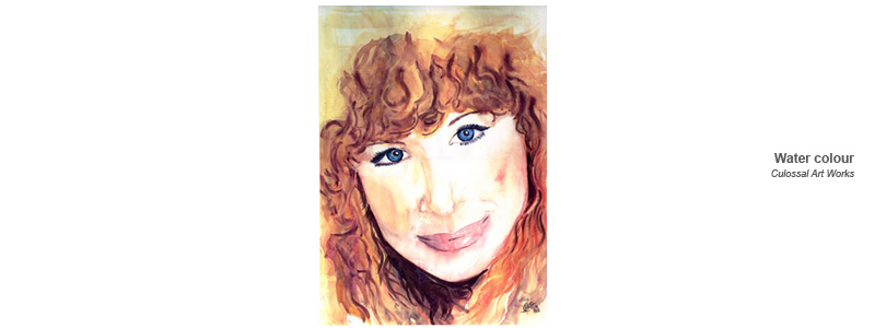 water colour of barbara streisand